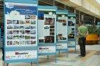 Stavby, projekty a památky na panelech v Obchodním centru Fontána (Tesco)
